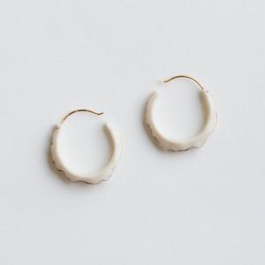 """""""first"""" Antler hoop earrings"""