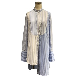 MONSE Long Sleeve Mixed Stripes Shirt