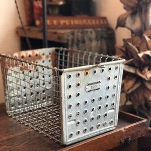 Vintage Steel Basket 190