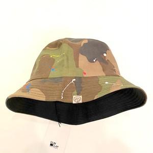 Painting Processing Camouflage Pattern Hat Khaki