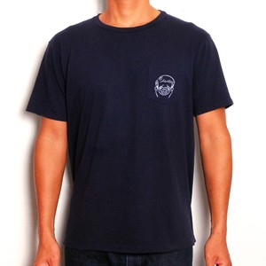 MOUNTAIN × GAKIYA ISAMU Tシャツ / Surf boy  / Navy