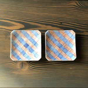 アンティーク小皿(四角)2枚組