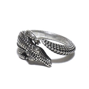 Vintage Sterling Silver Mexican Crocodile Ring