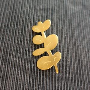 ユーカリ【真鍮ブローチ】