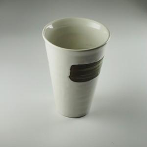 白釉錆刷毛フリーカップ [ 11.9㎝ ] 【黒と白】