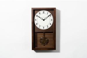 〈NEW〉振り子時計 LATTICE PENDULUM CLOCK 【DARK BROWN】
