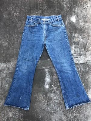80's VINTAGE levis 646 flare denim pants