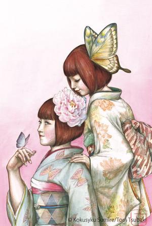 ポストカード「蝶よ花よ」