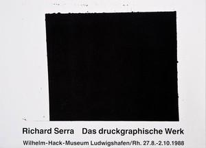 Richard Serra / Wilhelm-Hack-Museum 1988