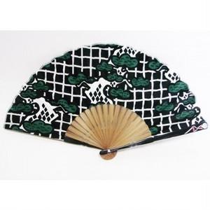 ジャパニーズ扇子 親骨シルエット型 忍者/松(扇子袋付き) F28-05-c168