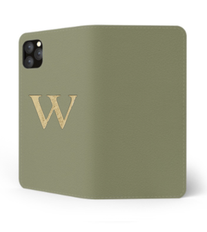 iPhone Premium Smooth Leather Case (Green Tea) : Book Cover