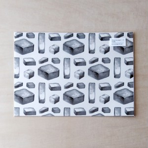 四角い石の自由紙