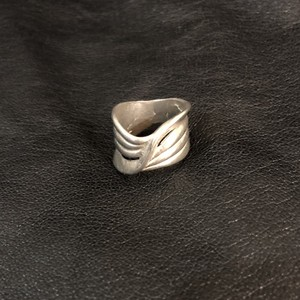 vintage  line  ring silver 80s  #7