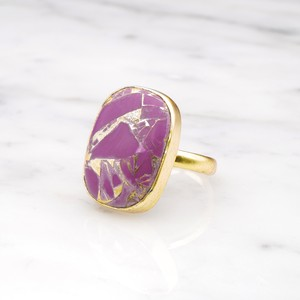 SINGLE BIG STONE RING GOLD 103