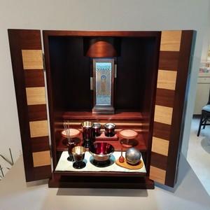 家具調仏壇 ウォールナット薄板貼り 18号 SN
