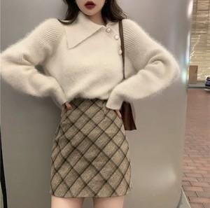 全2色♡ ニットトップス+スカートのセットアップ♡