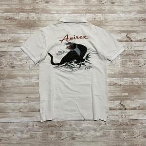 AVIREX 和柄 スカポロシャツ 半袖 刺繍 ポロシャツ 虎