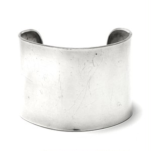 Vintage Sterling Silver Mexican Solid Bangle