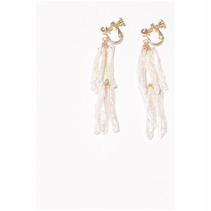Keshi pearl double earring