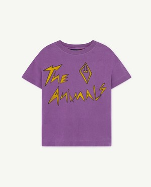 The Animals Observatory  ROOSTER KIDS T-SHIRT purple