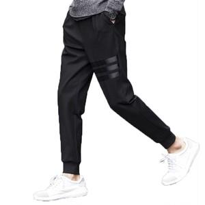 ジョガーパンツ スウェットパンツ リブ イージー テーパード メンズ 3本線 3本 ライン スキニー パンツ