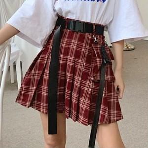 【ボトムス】カジュアルチェック柄プリーツスカートスカート26021312
