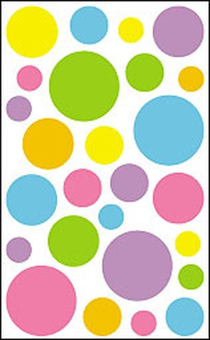Sheer Color Dots