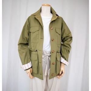 No.000207 ジャケット<カーキ・ベージュ>コットン・ナイロン【Trench & Coat】