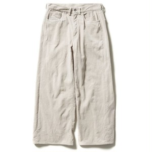【FILL THE BILL】CORDUROY 5POCKET ZIPPER PANTS - LIGHT GRAY