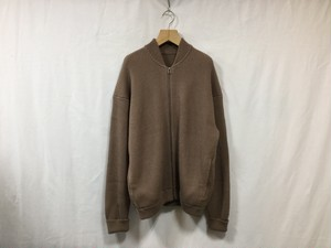 "crepuscule""rib stitch zip cardigan brown"""