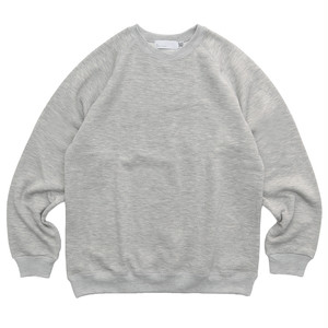 SO ORIGINAL BLEND COTTON RAGLAN CREW NECK SWEAT SHIRT(GRY)