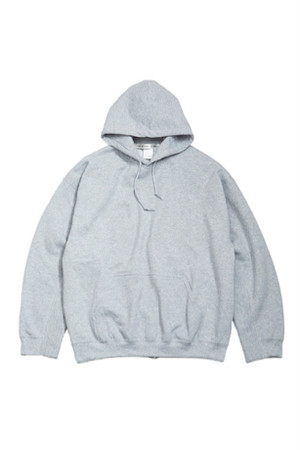 Elbow Patched Back Open Hoodie Collaborated PRE_ -GRAY- / soe