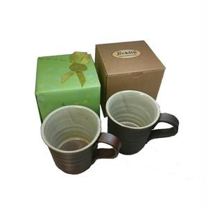 オフィス便利グッズ福井伝統工芸品(越前焼オリジナルマグカップ)Picklipピックリップココアカップ