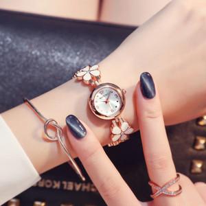 女子マスト フラワー スウィート 合わせやすい シンプル セラミック レディース 腕時計 <ins-2064>