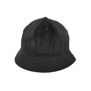 PASS PORT / CORD PATCH 6 PANEL BUCKET HAT -BLACK-