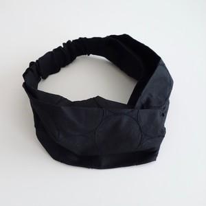 しゃぼん刺繍のヘアバンド 黒