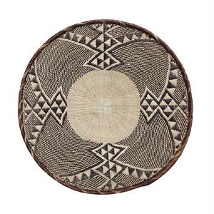 トンガ族の平かご M 22  / Tonga Flat Basket M 22