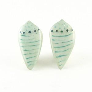 イモガイミニ(ストライプBlue) Pierced Earrings