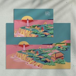 残波岬 A4 ポスターとポストカードセット