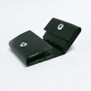 コンパクト三つ折り財布 グリーン/イタリアンカーフ