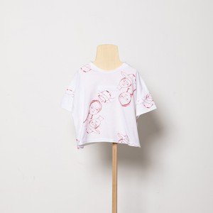 folk made  face print T-shirts (white) M・Lサイズ F21SS-017 ※メール便1点までOK