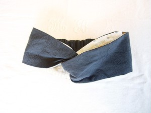 textile ヘアバンド sumikuro × gold stripe