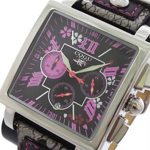 コグ COGU 桜 SAKURA 流通限定 クロノグラフ メンズ 腕時計 BNSKR-BPK ブラック