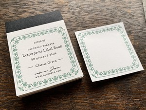 【活版印刷】Label book Vol.2(Classic  Green)niconecoコラボ