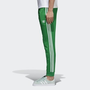 adidas originals Men's Track Superstar Cuffed Track Pants Green