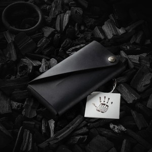 420 Minimalist leather wallet / phone case Carbon Black