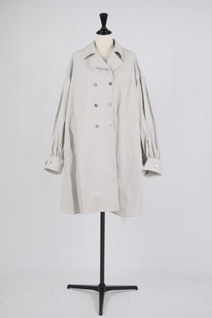 【Eicayoshinari】washi/cotton poncho shirts - gray