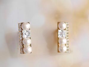 Square Pearls【14kgfピアス・イヤリング】