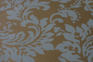 輸入壁紙【YORK ヨーク】CF6420 ブルー ゴールド バロック柄 青 金 植物 ボタニカル フリース