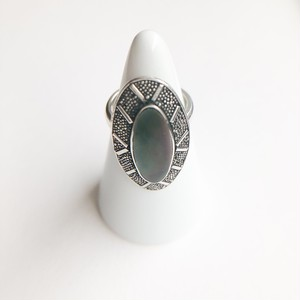silver 925 shell ring #9[r-89]